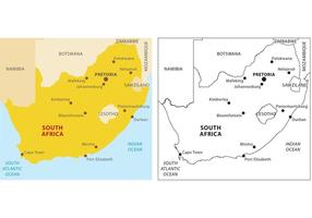 África do Sul mapa vetorial