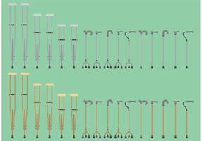 Canes And Crutches Vectors
