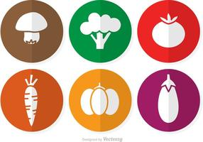 Ícones de vetor de vegetais