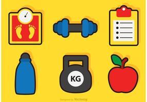 Ícones de vetor de fitness e saúde