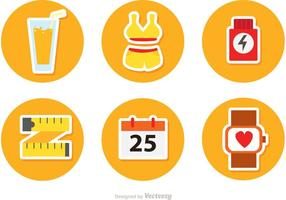 Circulr Healthy Lifestyle Vector Icons