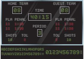 Hockey Score Board Vector