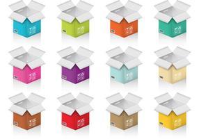 Färgglada Crate-vektorer