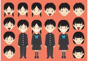 Vetores de personagem do estudante