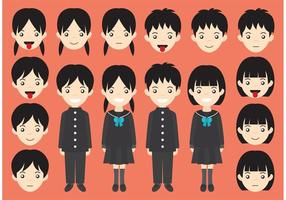 Vectores Personajes Estudiantes