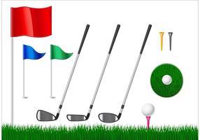 Elementos gratuitos do vetor de golfe