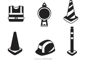 Vectores de señal de advertencia de tráfico
