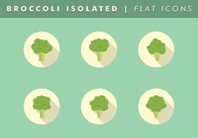 Broccoli Isolated Icons Vector Free
