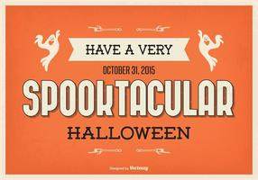 Illustration typographique de Halloween