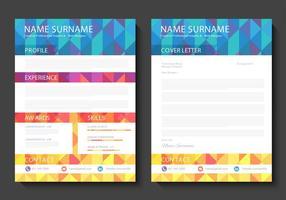 Conception de vecteur Curriculum Vitae gratuit