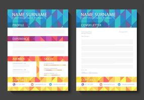 Curriculum Vitae Libre Vector Diseño