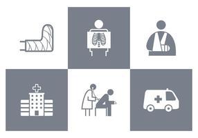 Iconos médicos libres del vector