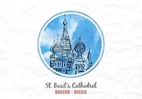 Gratis vektor berömd landmärke i Ryssland