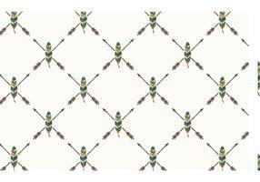 Libre pluma étnica patrón de vectores sin fisuras