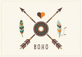 Libre Boho Plumas Con Arrows Vector Art