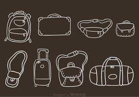 Vectores Dibujados a mano de la bolsa