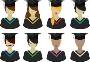 Pacote de pessoas de graduação vetorial