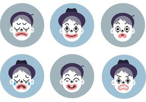Emotional Mime Vector Set
