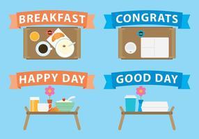 Frühstück im Bett Vektoren