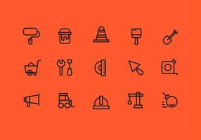 Arquitectura Herramientas Iconos Vector