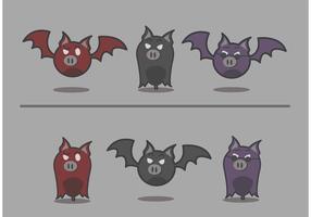 Vector de mascota de murciélago