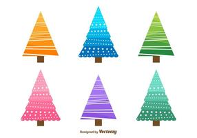 Christmas Tree Doodles vector