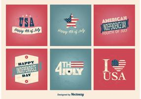 4th or July Type compositions  vector