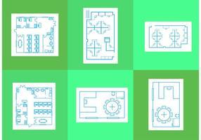 Büro-Grundriss-Vektoren