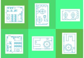 Office Floor Plan Vectors