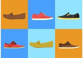 Vetores de sapatos masculinos