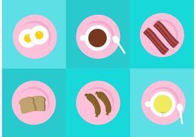 Desayuno Plate Vectores