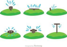 Vatten sprinkler vektorer