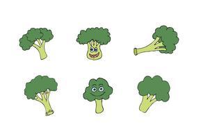Série de vetores isolados de brócolis grátis