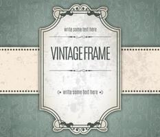 Cadre d'invitation vintage