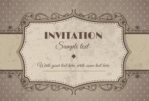 Invitación retra del vintage