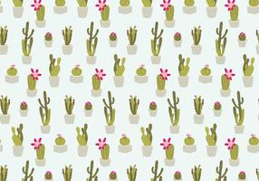 Patrón de cactus sin costuras
