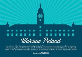 Warschau Polen Silhouette Illustration