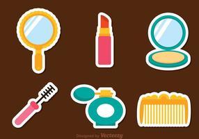 Vecteur femme cosmétiques icônes