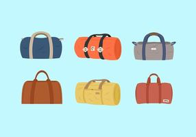 Duffle Bags Vector Illustraties Gratis