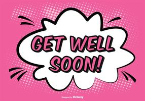 Comic-Stil Get Well Soon Illustration