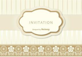 Nette Einladungs-Schablone