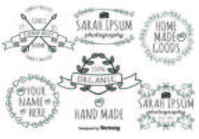 Cute Hand Made Label Set