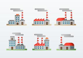 Factory Corporation Flat Icons Stil