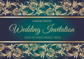 Elegant Wedding Card Illustration