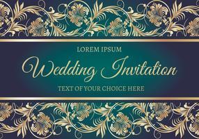 Elegant Wedding Card Illustration