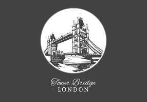 Free Vector Drawn London Tower Bridge