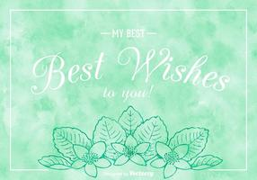 Free Best Wishes On Watercolor Vector Background