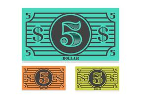 Free 5 Dollar Bill Vector