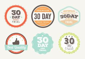 Gratis Trial Vector Badges