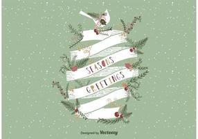 Seasons Greetings Retro Ribbon